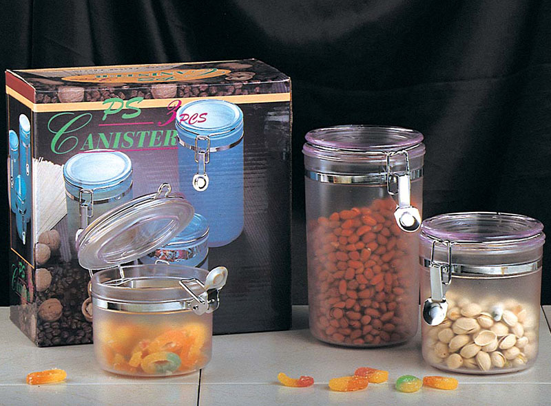 DURABLE GLASS STORAGE CANISTER SET