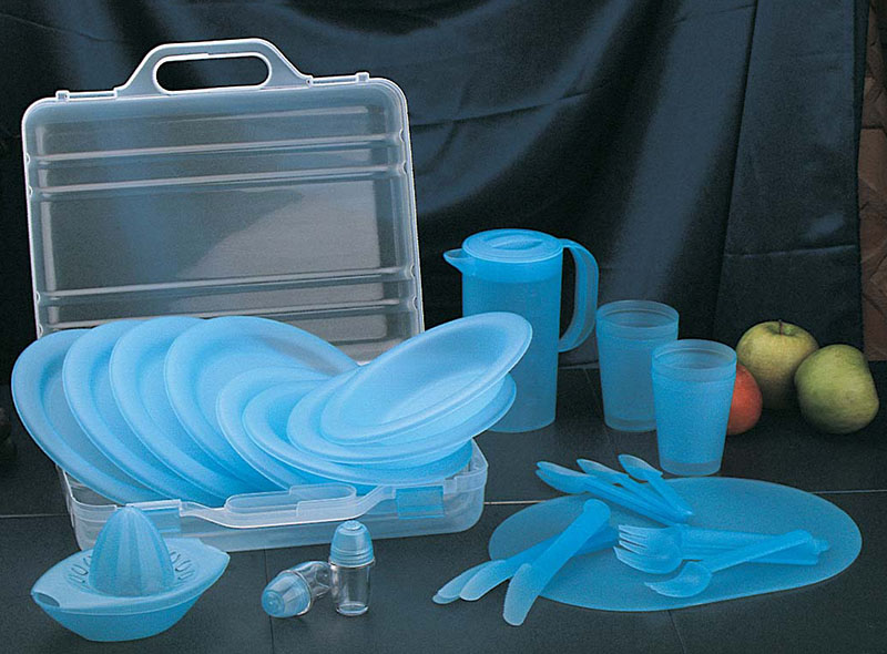 30PCS TABLEWARE  PICNIC SET WITH CASE